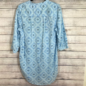 Lucky Brand Tops - Lucky Brand Geometric Embroidered Flowy 3/4 sleeve
